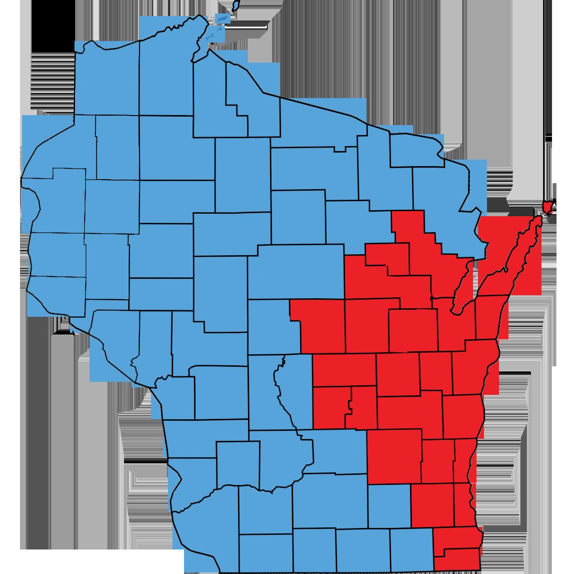 Aquire Restoration Wisconsin Service Areas